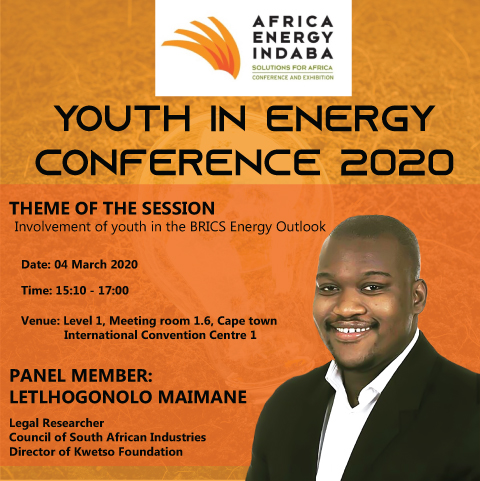 AFRICA ENERGY INDABA: YOUTH IN ENERGY CONFERENCE 2020